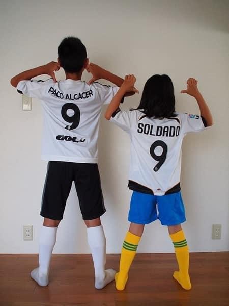 サッカーのユニフォーム
