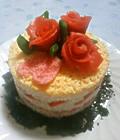 バレンタインやお祝いにお寿司ケーキ