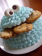 クッキーモンスターのキャラケーキ