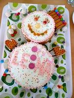 誕生日ケーキ 雪だるま