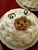 ひつじのデコケーキ