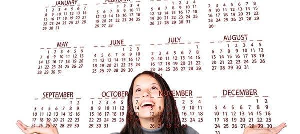 誕生日カレンダー