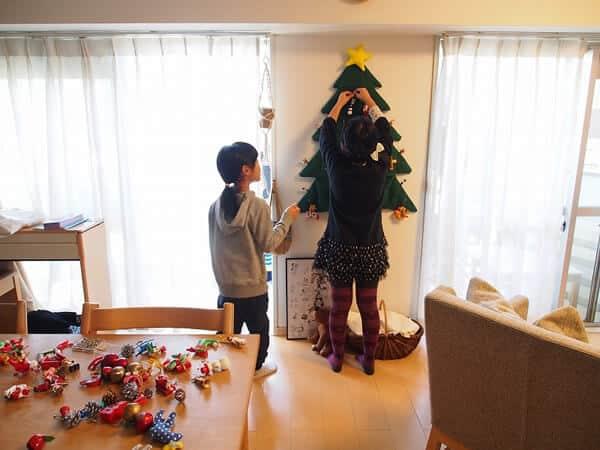 手作りクリスマスツリー